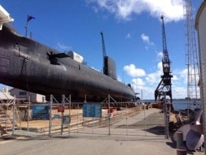 Submarine HMAS Ovens, Fremantle