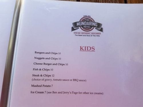 times. Monday, Tuesday and Saturday nights the hotel offers $2 kids meals when ordered with an adult meal.