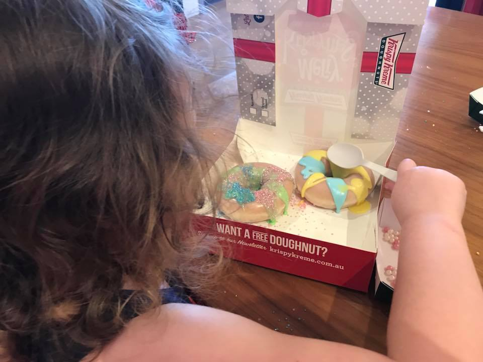Krispy Kreme Donut Decorating