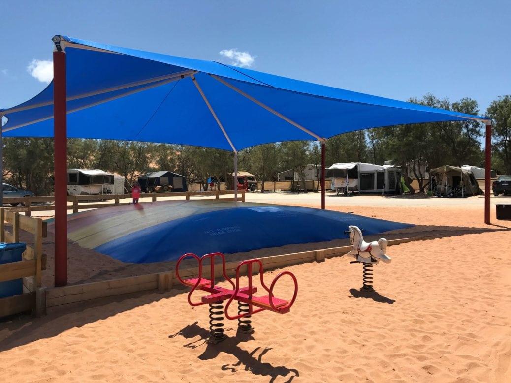 denham caravan park playground