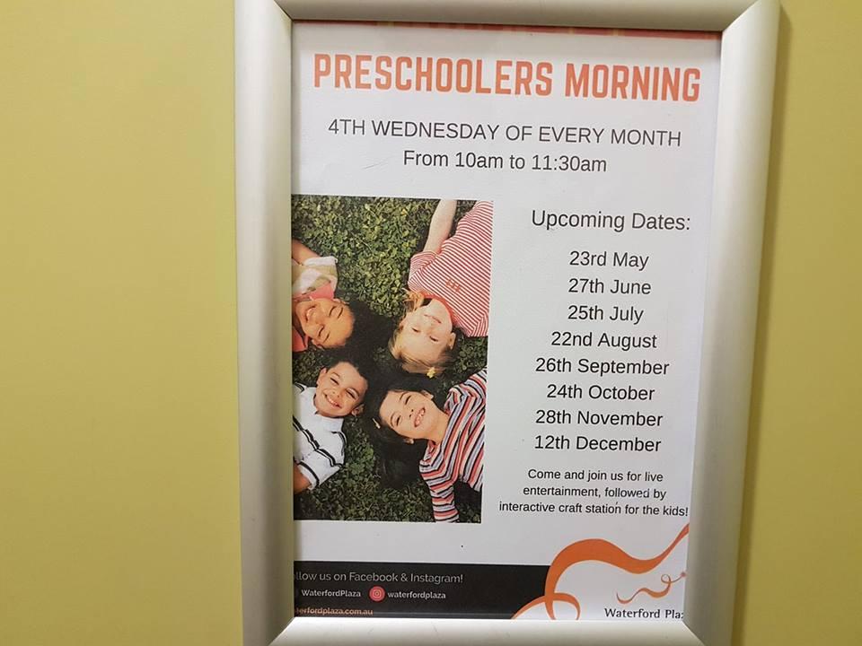 Pre-Schoolers Mornings, Waterford Plaza