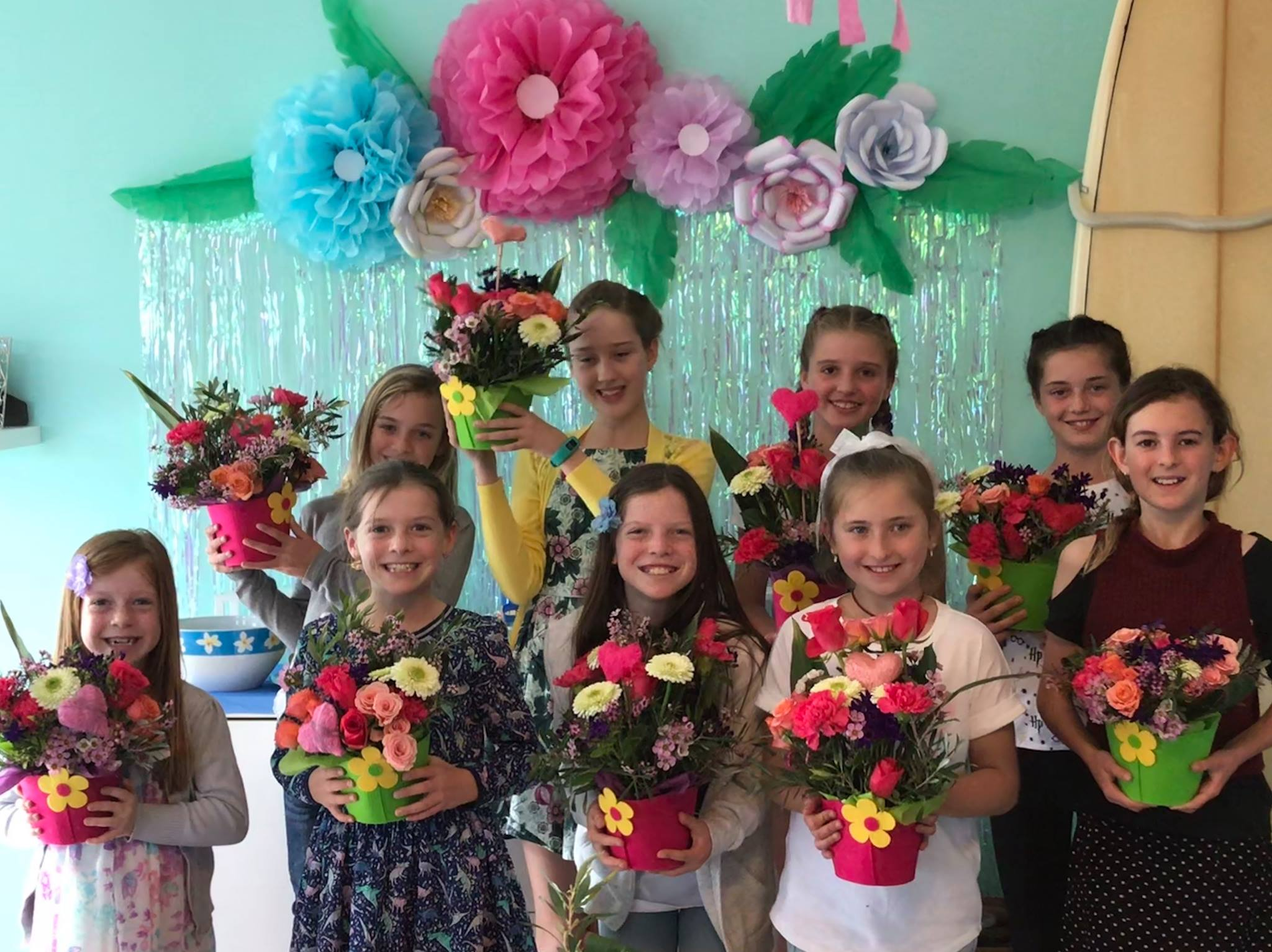 Flower Design School Birthday Party