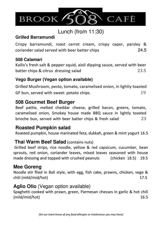Brook 508 Cafe & Restaurant, Roleystone